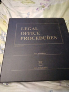 Legal Office Procedures Fifth Edition