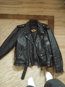 Leather biker / punk jacket