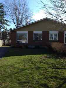 Semi detached with large fenced yard