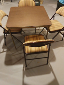 card table and 10 chairs