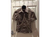 KAREN MILLEN ELEGANT BLOUSE 8UK