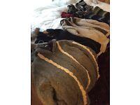 Job lot of 100% wool, handmade Nepalese fleece jackets and scarfs