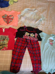 Girls size 6-7 justice & other brand clothes lot