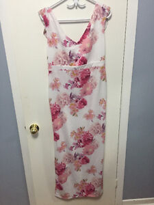 Never Worn Gorgeouss White and Floral Print Maxi Dress