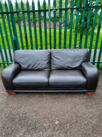 3 seater leather Sofa (delivery available