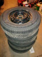 Yokohama Geolandar 216 80 16 winter tires w/steel wheels 5x114.3
