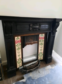 Cast iron full fire place