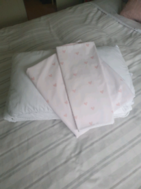 White Company Cot bed duvet, pillow and duvet set