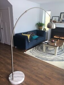 EQ3 Cast floor lamp with solid marble base