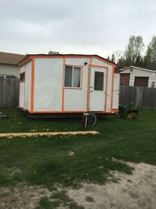 Ice hut for sale with trailer it's on