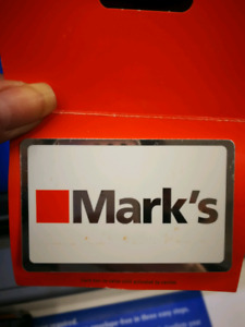 Marks Gift Cards for sale $300 for $250.
