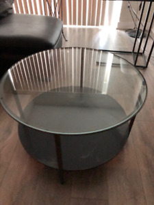 Ikea Glass Black Coffee Table And Laptop Stand