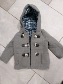 12 to 18 month grey duffle coat