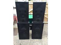 FBT Verve 152 and FBT Verve 12 PA speakers 1000 watts
