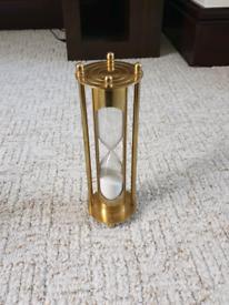 Decorative gold sand timer