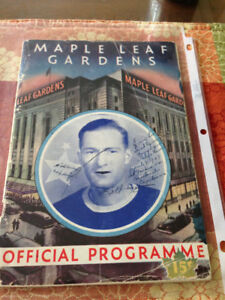 VINTAGE 1946 TORONTO MAPLE LEAFS PROGRAM MLG TML