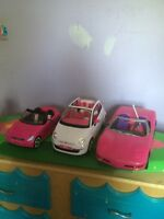 Barbie cars for sale one remote control one