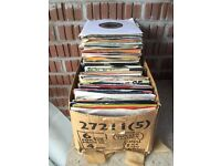 Collection of more than 200 vinyl 7 inch 45RPM single records