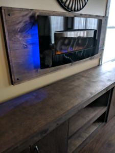 Stunning fire place with cabinet combo !! Just built !
