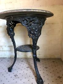 Britannia cast iron table