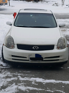2004 Infiniti G35 with winter tires