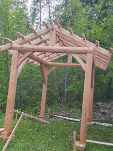 8x12 timber frame project