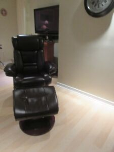 Ashley Recliner,swivel chair with matching ottoman.