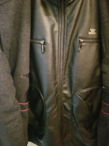 Armani Exchange Leather + Button Coats L/G Manteau Cuir + Fabric