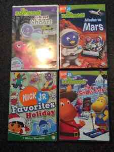 DVDS:  Backyardigans, Franklin, Little Einsteins, Diego