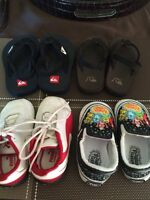 Infant kids sandles/shoes size 4, the Pumas are size 3.