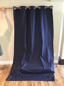 Blackout Navy Blue Curtains - 6 panels