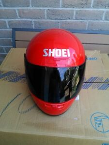 USED SHOIE HELMET SIZE S WITH TINTED SHIELD