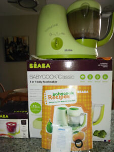 BEABA Babycook Classic with rice cooker and recipe booklet