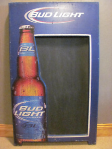 Bud Light chalkboard sign 24 x 36 inches $48