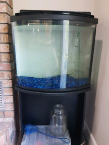 Fish tank - 26 gallon bow front tank and stand