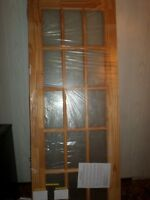 Solid Pine 15 Panel Glass Door