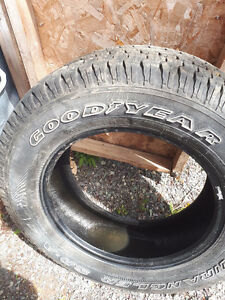 For sale - 4 Goodyear Wrangler tires size 245X65R17