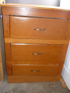 Vintage Pine Dresser    (3 Drawers very Deep  )    (Solid Wood )