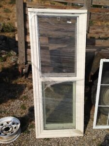 """36"""" outside door fill glass/ window slides up and down"""