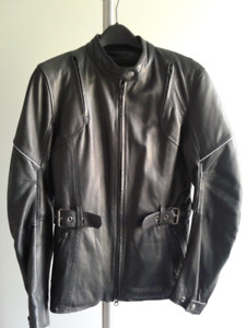 Women leather motorcycle jacket