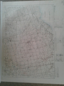 1914 1 inch to mile map of  Markham, Pickering etc.
