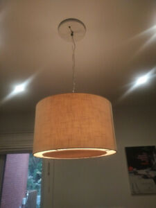 Crate & Barrel Drum Pendant Light