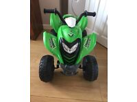 Kids 6v electric quad, with charger, in good condition