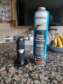 Gas cookery torch c/w gas cartridge