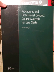 Procedures and Professional Conduct Course Materials for Clerks