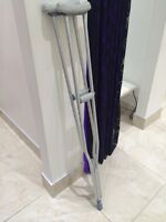 Adjustable height crutches