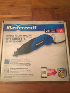 New In Box Mastercraft Corded Rotary Tool with Accessory Kit