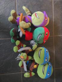 4 cuddly ninja turtles 13 inches