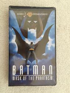 DC COMICS COLLECTABLE BATMAN MASK OF THE PHANTASM ON VHS