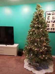 OR BEST OFFER $599 8' cashmere tipped Christmas tree
